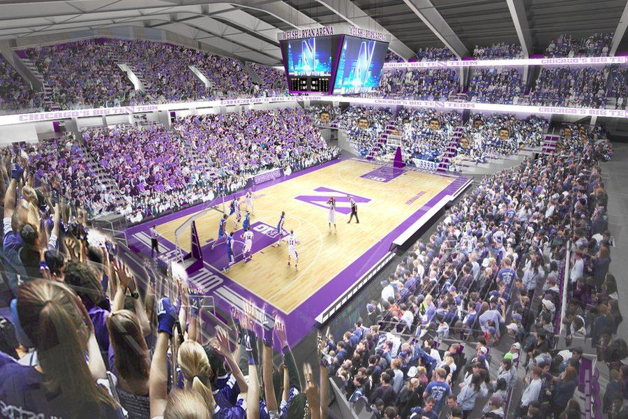 A conceptual rendering of the refurbished Welsh-Ryan Arena. On Monday, the athletic department announced renovations to the arena that would begin following the 2016-2017 basketball season.