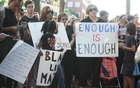ETHS graduates lead Black Lives Matter demonstration at Fountain Square