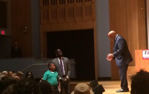 Congressman John Lewis speaks at ETHS on graphic novel trilogy about Civil Rights Movement