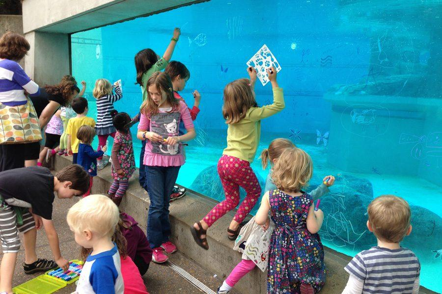 The events of the Big Draw Evanston target a variety of ages and interests, with the aim of gathering people in public spaces to create art collectively.