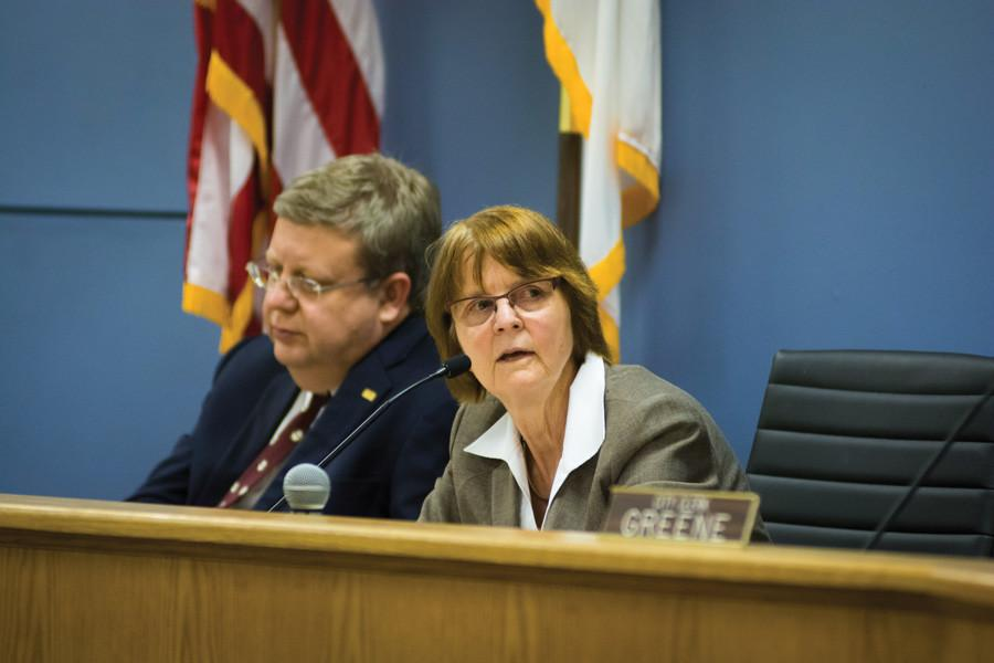 Mayor Elizabeth Tisdahl attends a City Council meeting. Tisdahl expressed doubt that Ald. Brian Miller (9th), who announced his candidacy for mayor on Friday, is the best fit for the job.