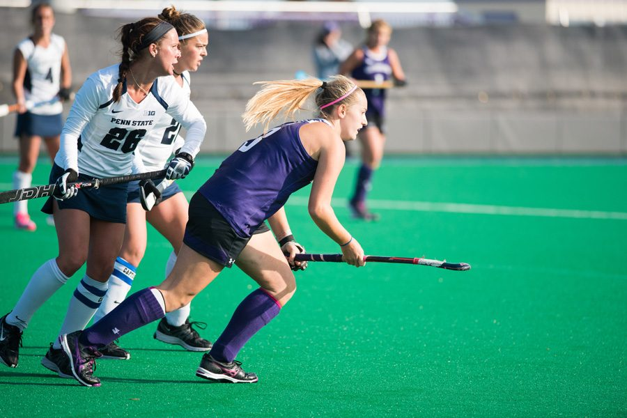 Dominique+Masters+goes+for+the+ball.+The+senior+midfielder+is+tied+for+the+team+lead+in+goals+ahead+of+Northwestern%E2%80%99s+weekend+games+against+Penn+State+and+Maryland.