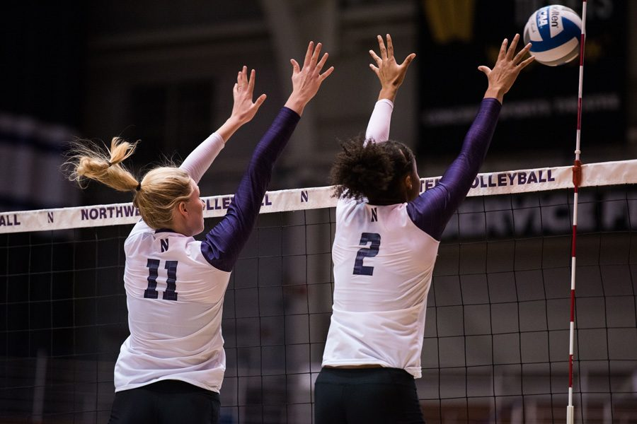 Maddie+Slater+sets+the+ball.+NU+opens+its+Big+Ten+season+Wednesday+against+Indiana.