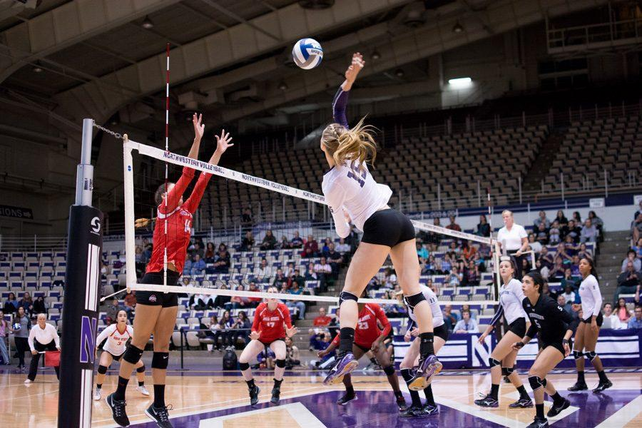 How do you calculate hitting percentage in volleyball?