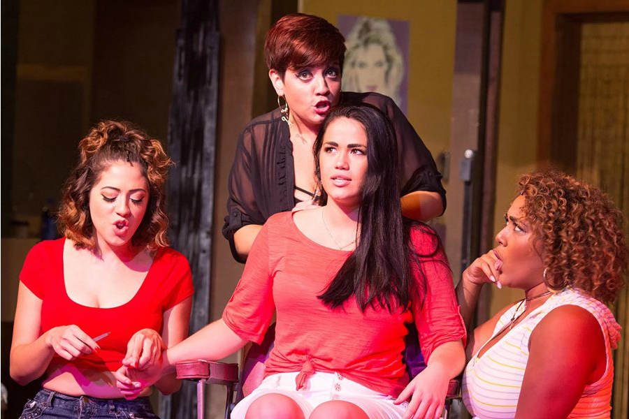 Michelle Lauto (left), Missy Aguilar, NU junior Lucy Godinez and Leah Davis perform a scene from
