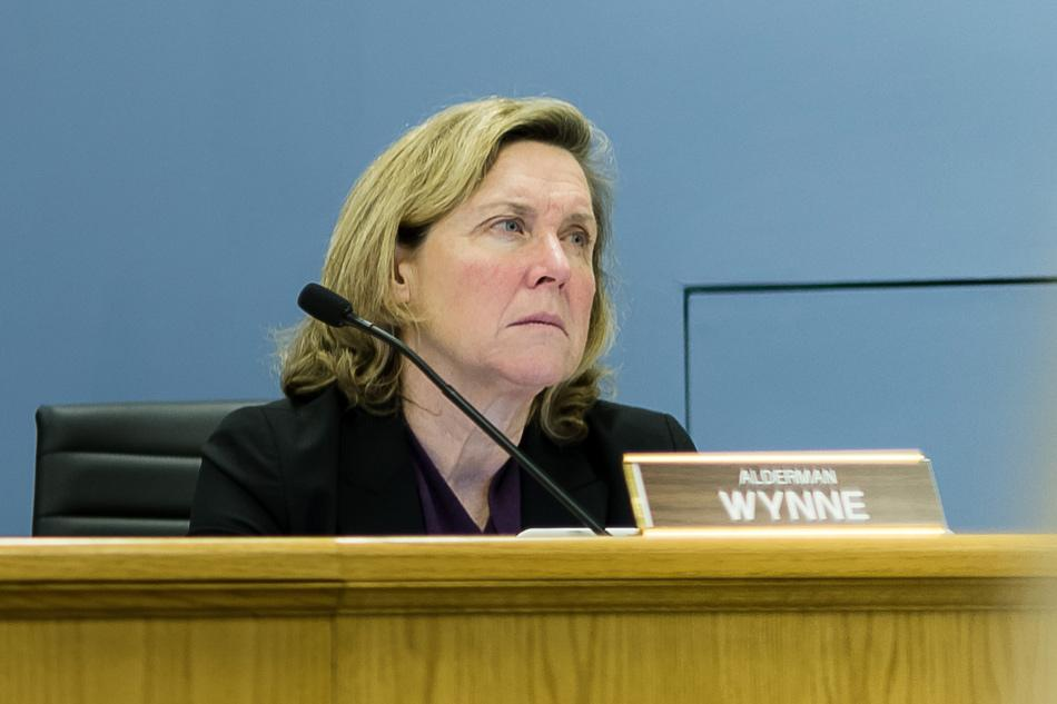 Ald. Melissa Wynne attends a city meeting. Wynne said at a Saturday council meeting the city should show full support for Evanston Cradle to Career.