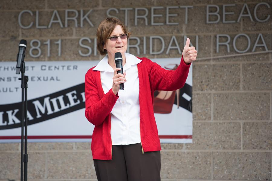 Mayor Elizabeth Tisdahl speaks at an event. Tisdahl and University President Morton Schapiro announced Wednesday the allocation for the second year of the Good Neighbor Fund.