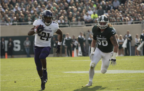 Football: Northwestern silences Michigan State homecoming crowd in 54-40 win
