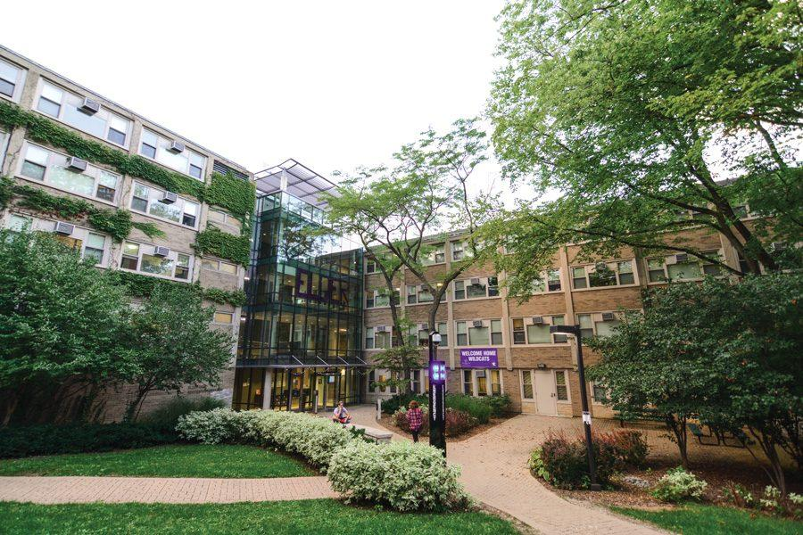 An outside view of Elder Residential Hall.
