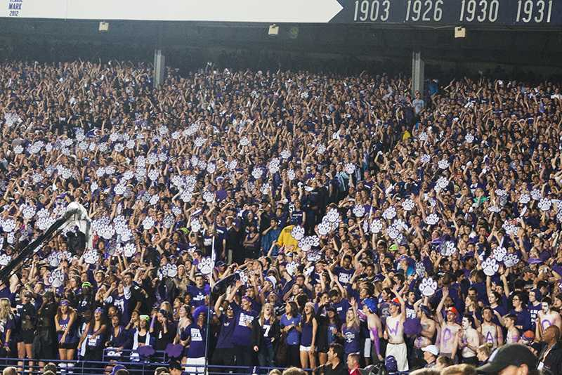 Students fill Ryan Field during Northwestern's loss to Ohio State in 2013. Since that game, the two programs have moved in very different directions.