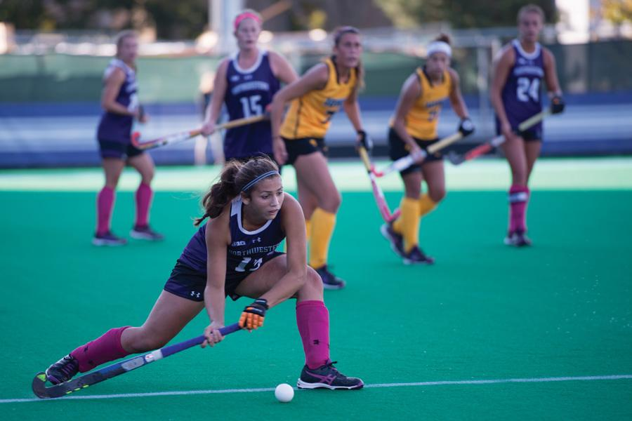 Lily Gandhi moves the ball. The freshman back and Northwestern travel to Michigan this weekend to play their final Big Ten game of the season Friday against Michigan State.