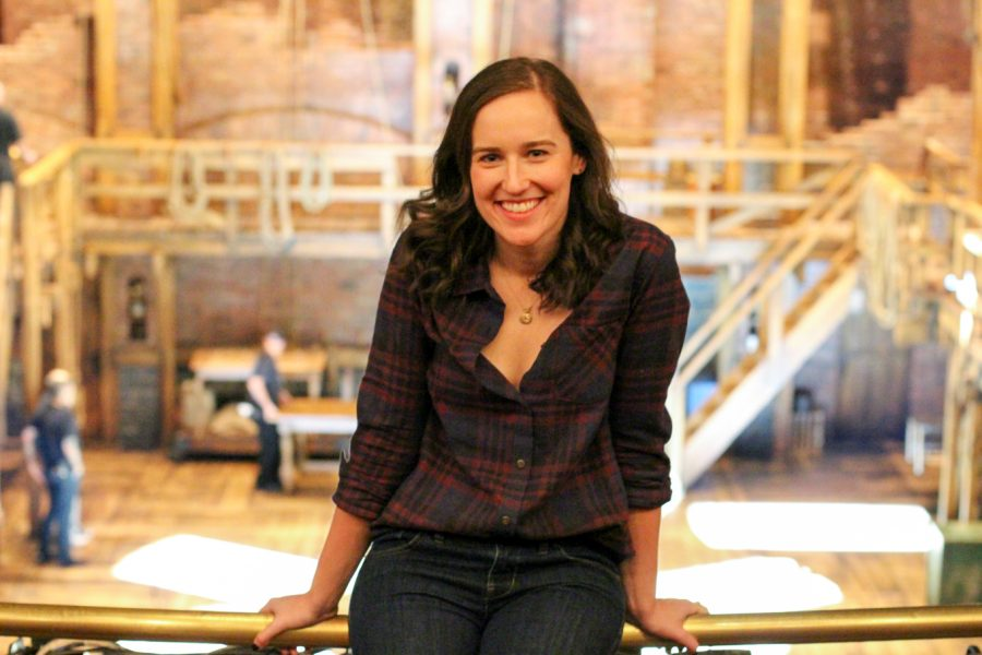 """Kaitlin Fine (Communication '09) was mainly a performer during her time at NU, but a change of course led her to her current position as an associate company manager for """"Hamilton."""""""