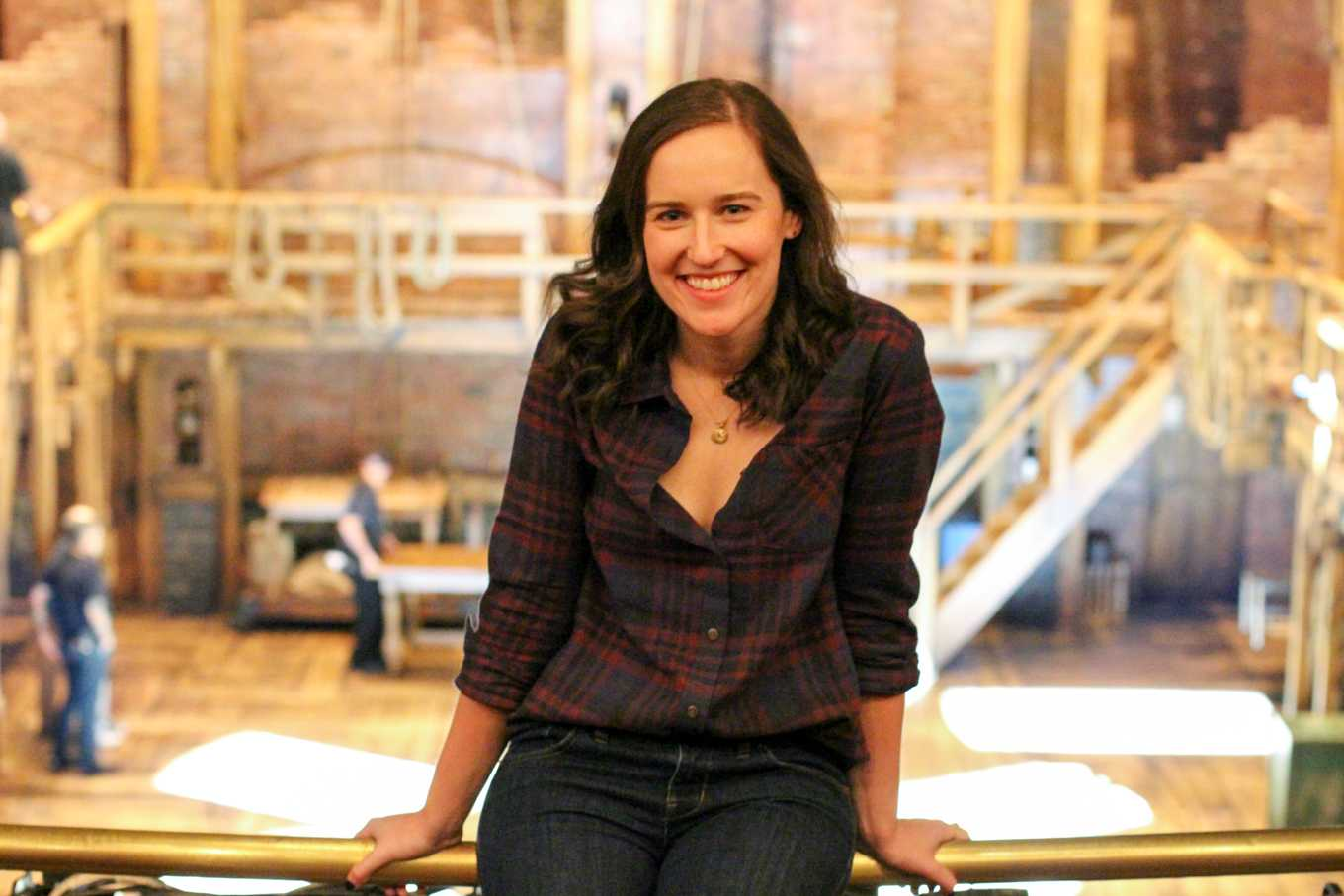 "Kaitlin Fine (Communication '09) was mainly a performer during her time at NU, but a change of course led her to her current position as an associate company manager for ""Hamilton."""