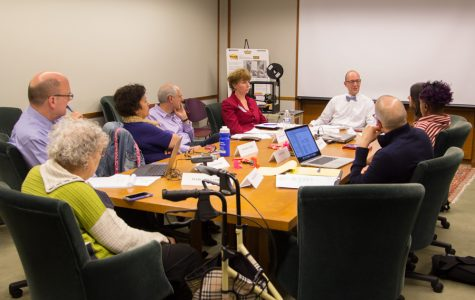 The Evanston Public Library Board of Trustees meet to discuss the details of a plan to expand its WiFi router pilot program. The group focused on keeping the program free while lengthening the lending period and adding to the number of routers available to be checked out.