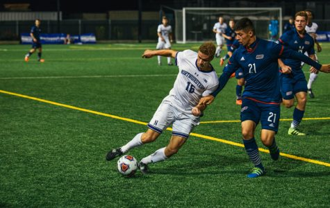 Men's Soccer: Northwestern's goal problems continue as Flames burn Cats, 2-0