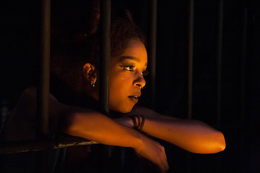 """Vertigo Productions' fall mainstage production opens Thursday night in Shanley Pavilion. """"The Queens"""" features two actresses portraying a pair of lionesses trapped in a cage and left to starve."""