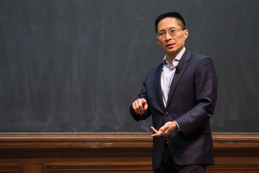 Author Eric Liu speaks at an event put on by the Chinese Students Association. Liu, former speechwriter for Bill Clinton, spoke about citizenship and identity.