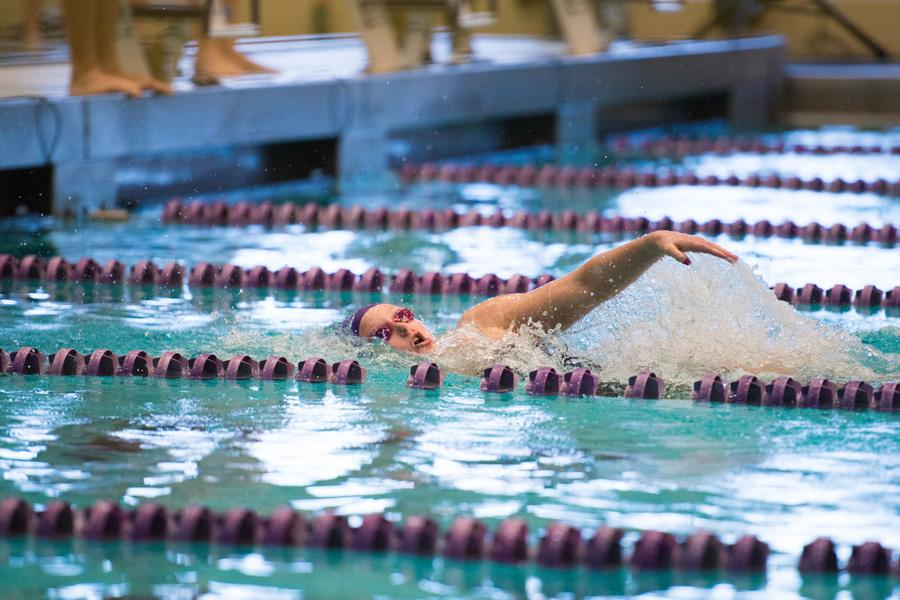 Lacey Locke swims for the wall. The senior captain figures to be one of Northwestern's leaders as the team prepares for the season.