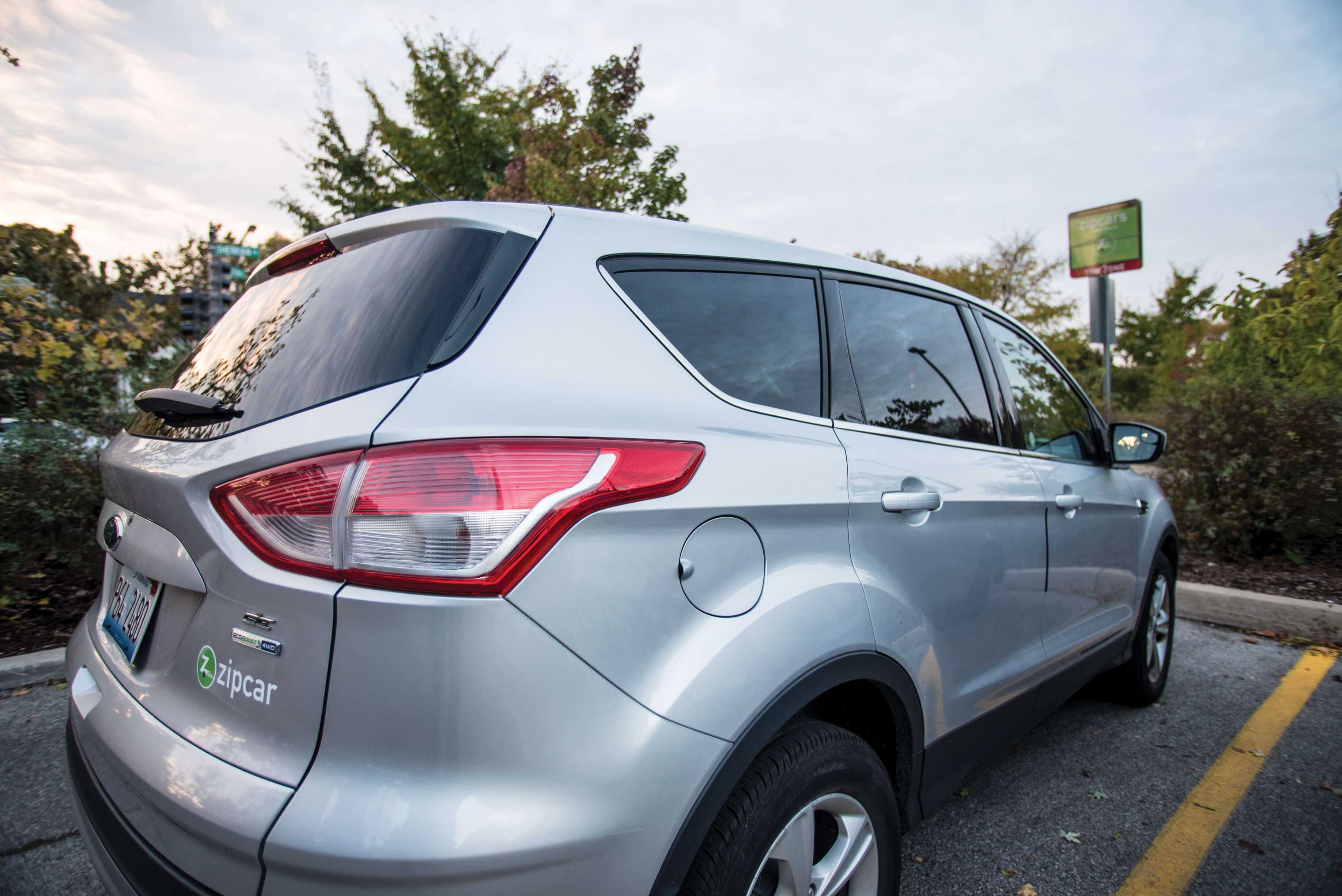 A Zipcar is parked on Northwestern's campus. According to a recent study, the car sharing company has reduced the number of individually-owned vehicles on college campuses nationwide.
