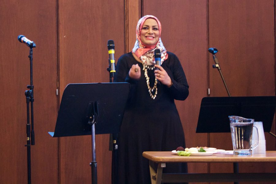 Tahera+Ahmad%2C+associate+chaplain+and+director+of+interfaith+engagement%2C+speaks+at+the+Jewish+Council+on+Urban+Affairs%E2%80%99+annual+Freedom+and+Justice+Seder+in+April.+Ahmad+was+named+one+of+the+Muslim-Jewish+Advisory+Council%E2%80%99s+first+members+on+Monday.