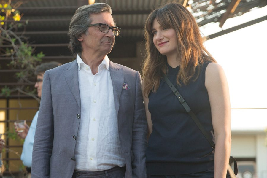 """Kathryn Hahn (Communication '95) and co-star Griffin Dunne star in the Amazon series """"I Love Dick."""" The show's screenplay is written by Sarah Gubbins (Communication '97, '08)."""