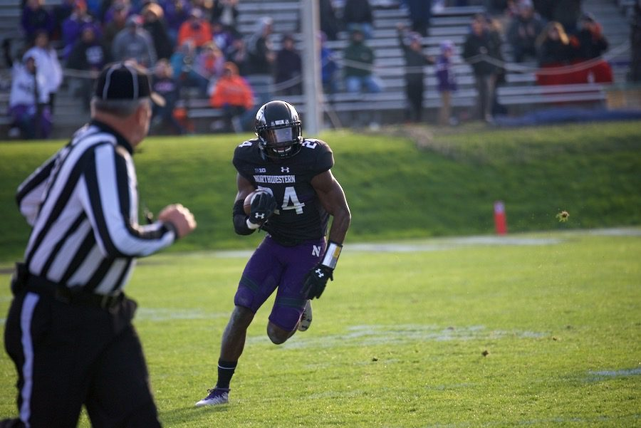 Montre+Hartage+returns+an+interception.+The+sophomore%27s+fourth+quarter+pick+was+his+fifth+of+the+season.