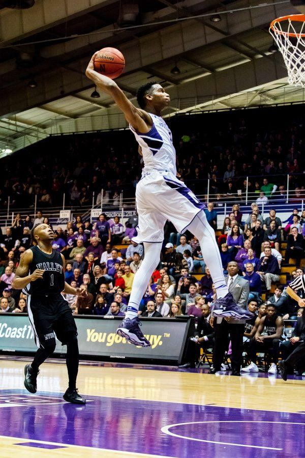 Vic Law flies for a dunk. After missing last season due to a torn labrum, the sophomore forward is set to return and give the Wildcats new lineup flexibility.