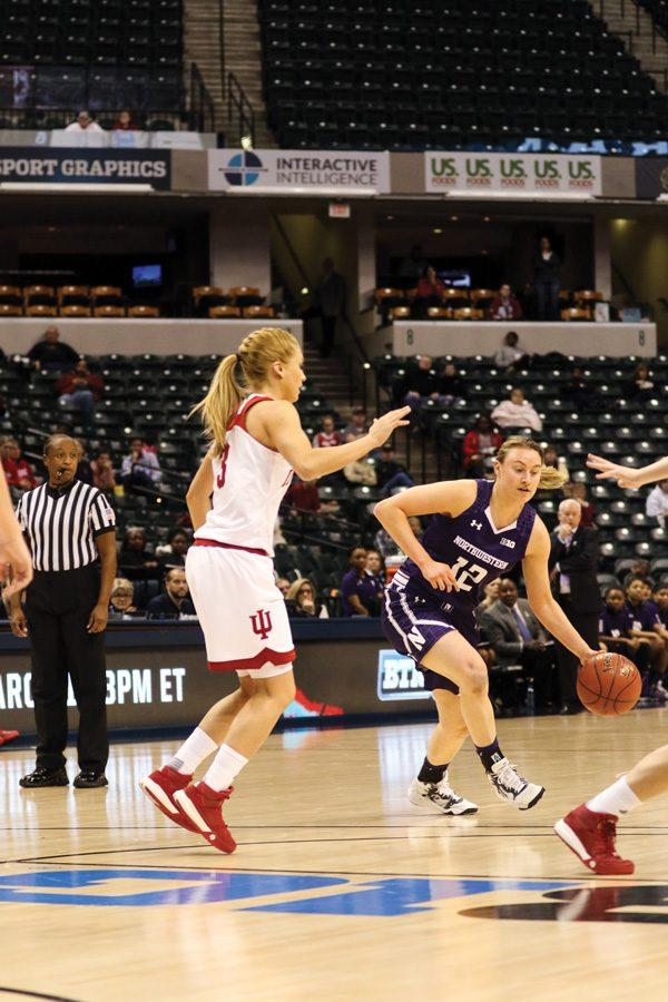 Lydia Rohde takes a defender off the dribble. The junior guard is one of several options for the Wildcats to see time as the team's third guard.