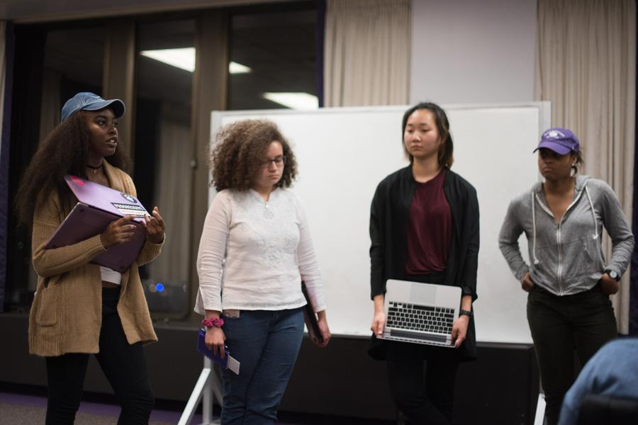 Four senators address Associated Student Government about new emergency legislation about undocumented immigrants. The legislation, which proposes to make Northwestern a sanctuary for undocumented students, was introduced Wednesday night.