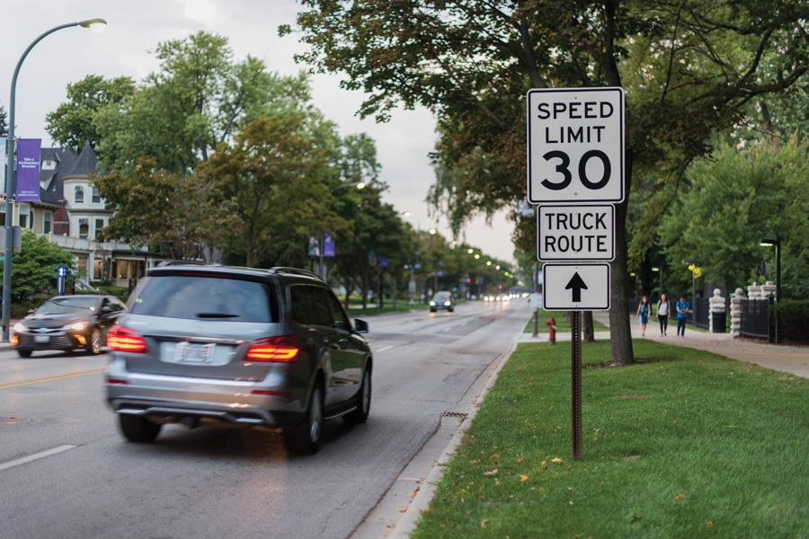 The speed limit on Sheridan Road is currently 30 mph. Council voted Monday to lower the speed limit to 25 mph.
