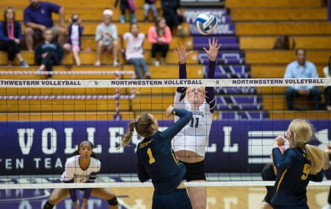 Volleyball: Northwestern captures win on Senior Night as season nears completion