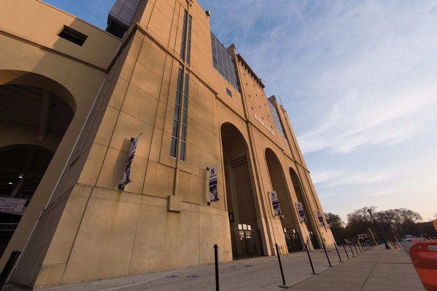 The exterior of Ryan Field. ASG's Sustainability Committee has plans to reduce waste at Ryan Field and other NU athletic facilities.