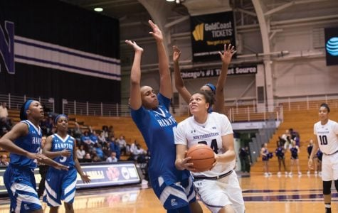 Oceana Hamilton battles in the post. The junior center has started all three games for the Wildcats this season ahead of Saturday's showdown with No. 20 DePaul.