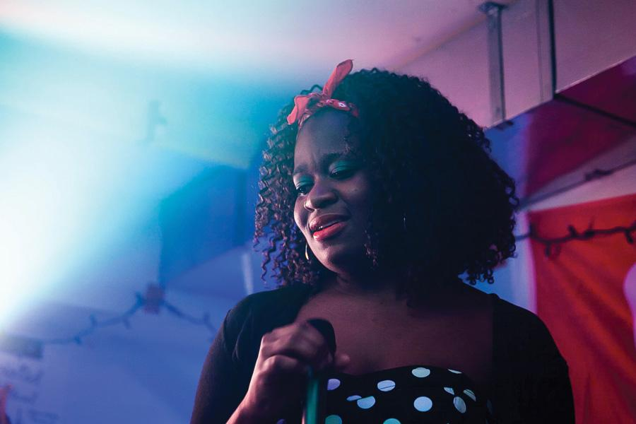 "Medill freshman Debbie-Marie Brown is performing during her album release party. She released her album ""Mindful Isolation,"" which reflects the transformation she has gone through since college, on iTunes on Jan. 1."