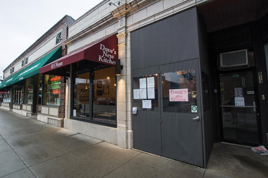 (Daily file photo by Leeks Lim) Dave's New Kitchen opened at 815 Noyes St last year. Dave Glatt, who runs the restaurant, previously owned Dave's Italian Kitchen on Chicago Avenue.