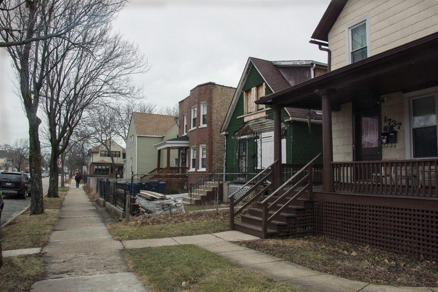 (Leeks Lim/The Daily Northwestern) A row of homes in the fifth ward, where five candidates are in the race for alderman. Several candidates said they would prioritize expanding affordable housing, workforce development and crime prevention programs.