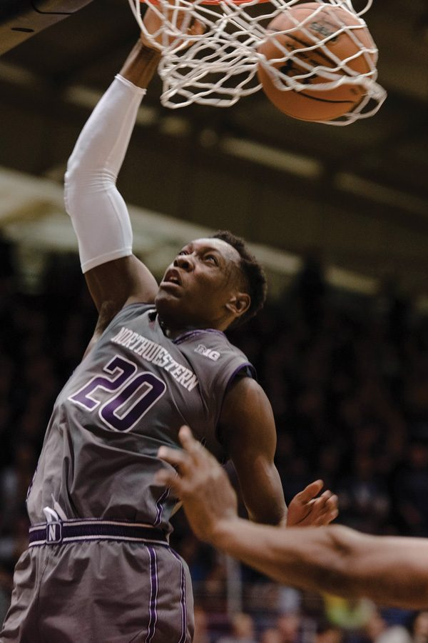 (Daily file photo by Jacob Morgan) Scottie Lindsey dunks the ball. The junior's 15 second half points helped NU recover from Nebraska's first half run.