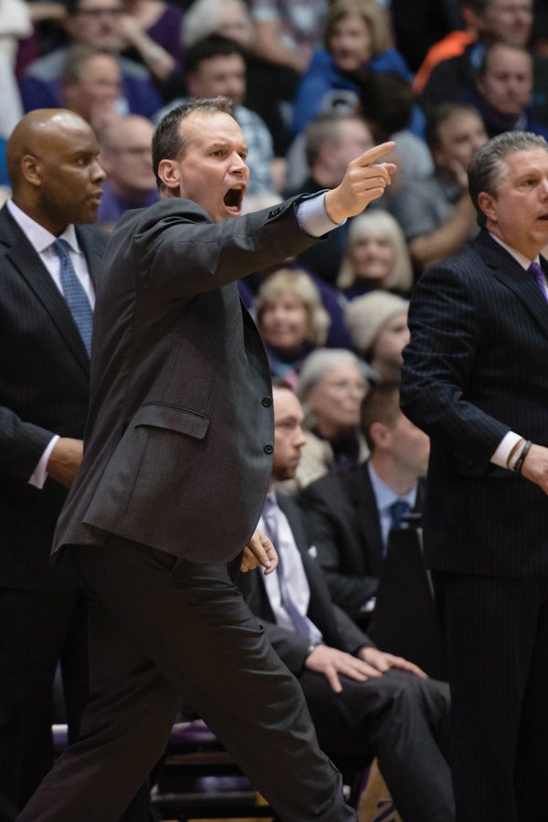 (Daily file photo by Jacob Morgan) Chris Collins yells from the sideline. The coach is looking to lead his team to new heights in 2016-17.