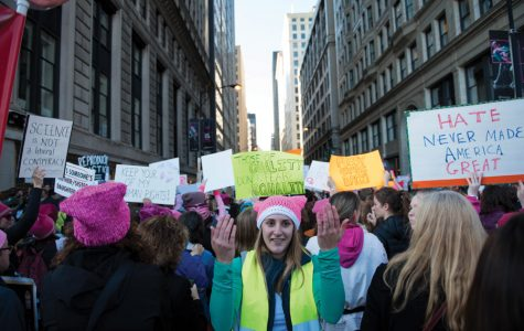 Northwestern students join Women's March on Washington, Chicago