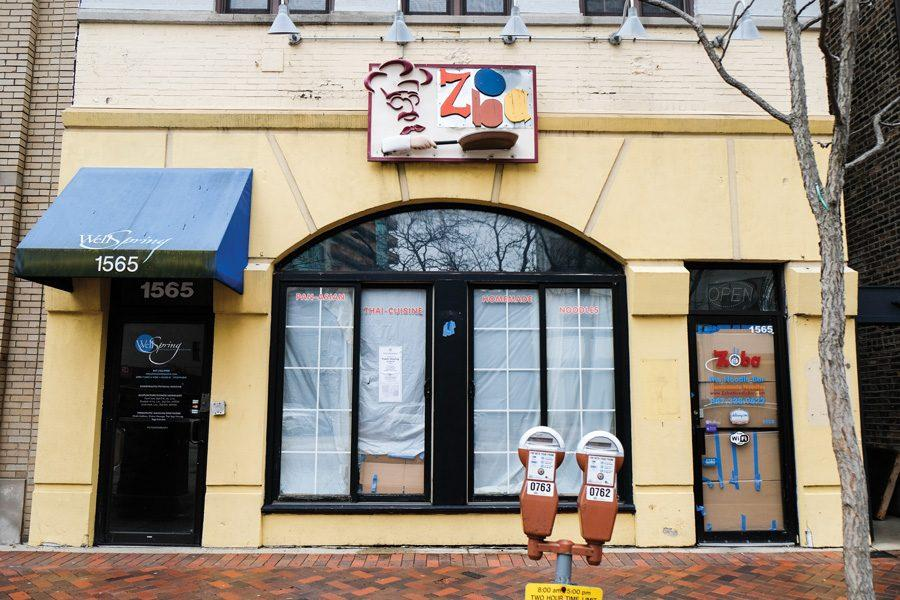 (Jeremy Yu/The Daily Northwestern) Sushi Burrito is hoping to move into 1565 Sherman Ave. in the coming months. The restaurant Zoba Noodle Bar was previously located in the spot.