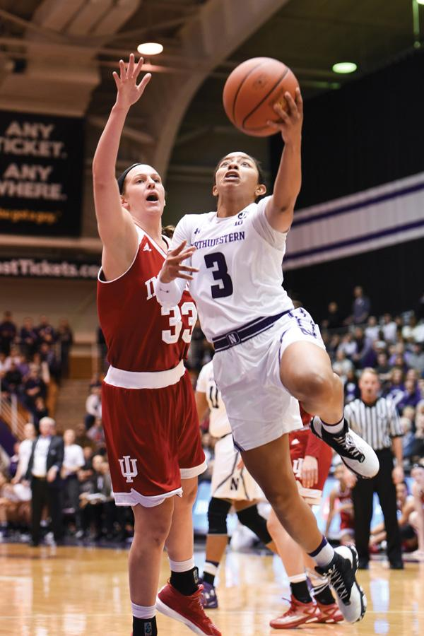 Ashley Deary attempts a layup. The senior will look to lead Northwestern over a struggling Wisconsin team.