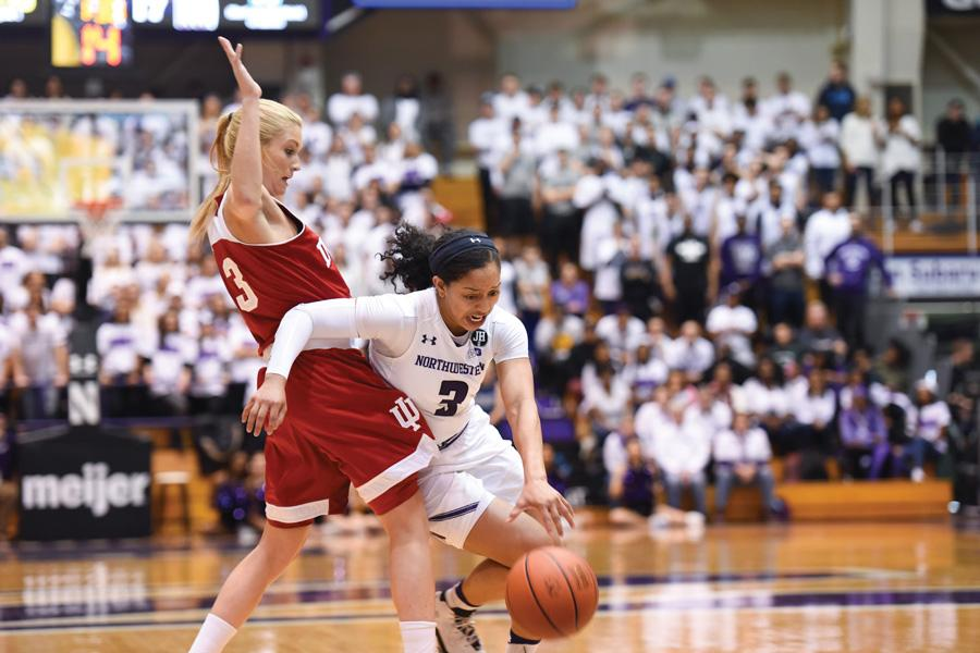 Ashley Deary attempts to evade a defender. The senior guard made just one field goal in the loss to Michigan.