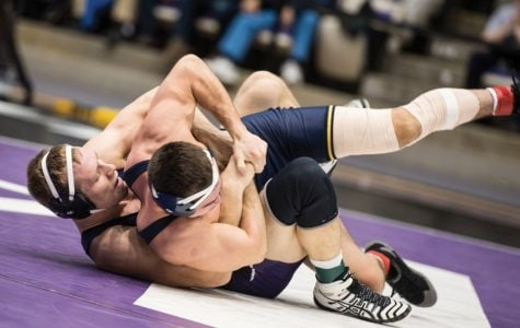 Wrestling: Northwestern finds silver linings in Michigan loss