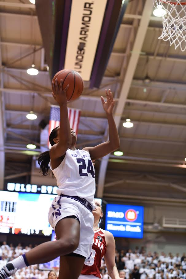 Christen Inman shoots a layup. The senior returned from a two-game absence Sunday.