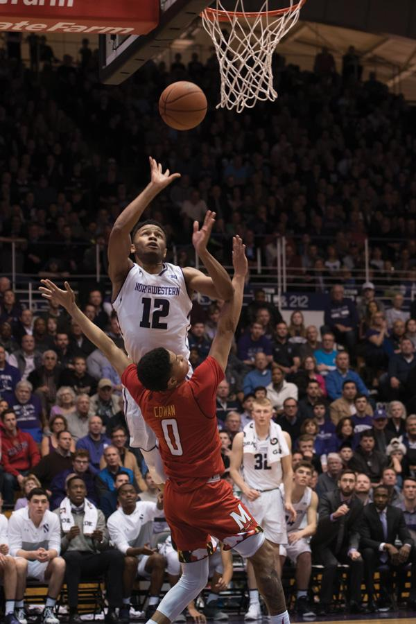 Isiah Brown elevates for the and-one. The freshman guard tallied 19 points against Maryland.