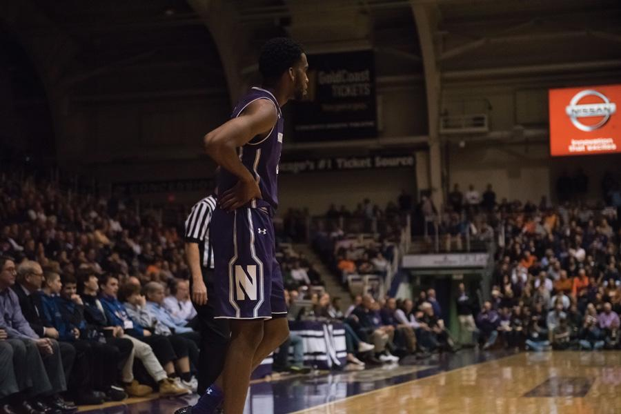 Vic Law surveys the arena. The sophomore forward's hot start couldn't save the Wildcats on Tuesday.