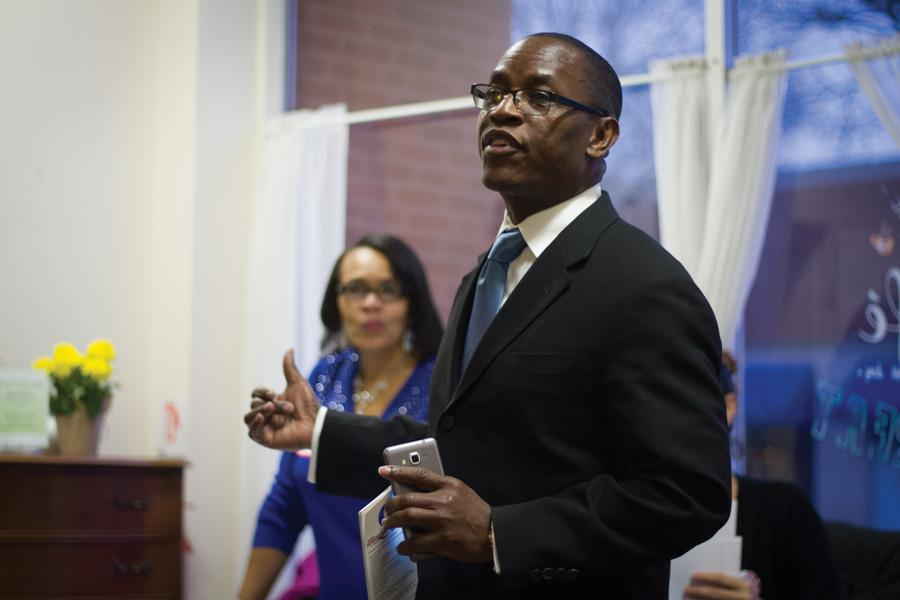 Mayoral candidate Gary Gaspard formally kicks off his campaign at Curts Cafe, 2922 Central St., on Jan. 22. Gaspard wants to unite the city and increase affordable housing.