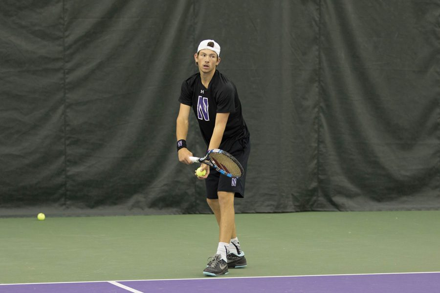 Strong Kirchheimer serves. Friday's matchup against the Wolfpack will be a homecoming for the North Carolina native.