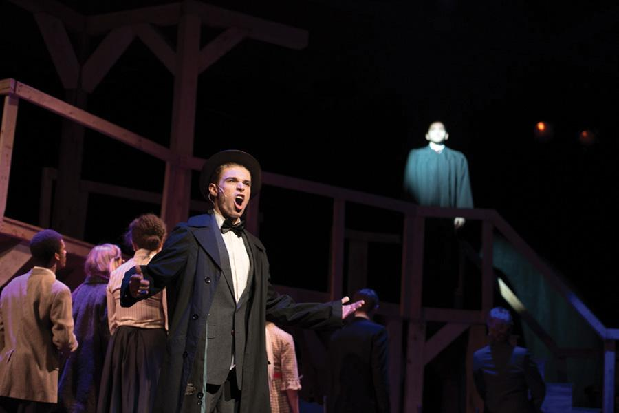 The cast of Parade reopens the case of Leo Frank in a historical musical. The Jewish Theater Ensemble's winter main stage production opens Friday in the Louis Room in Norris.
