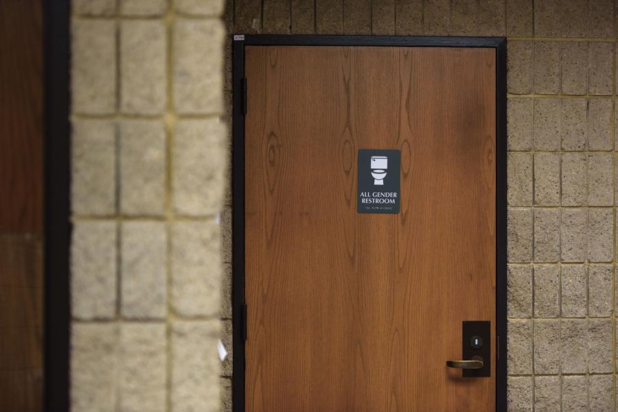 Norris University Center has an all-gender bathroom on its third floor. An administrator sent an email to students Thursday saying the University would not alter its practices or procedures following the Trump administration's revocation of Obama's transgender bathroom bill.